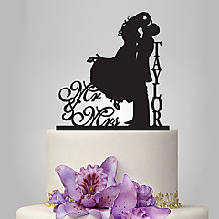 Personalized Acrylic Kissing Wedding Cake Topper