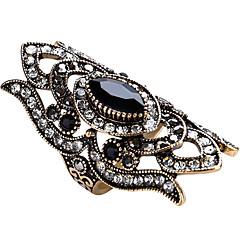 Maxi anel Anel Original Vintage Personalizado Euramerican Jóias de Luxo Bijuterias Destaque Moda Vidro Liga Forma Geométrica Jóias Para