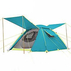 3-4人 テント ダブル 自動テント 1つのルーム キャンプテント 2000-3000 mm 炭素繊維 オックスフォード 防湿 防水 通気性 防雨-ハイキング キャンピング 旅行 屋外-ダークブルー ライトブルー オレンジ