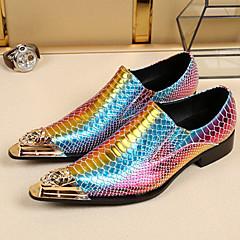 גברים-נעלי אוקספורד-עור-נוחות חדשני נעליים פורמלית-סגול-חתונה משרד ועבודה מסיבה וערב-עקב שטוח