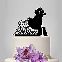케이크 장식 개인화 클래식 커플 아크릴 웨딩 기념일 결혼 측하 가든 테마 클래식 테마 소박한 테마 OPP