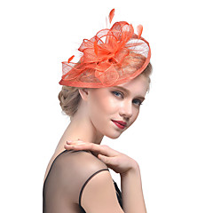 Veren Tule Helm-Bruiloft Speciale gelegenheden Fascinators 1 Stuk