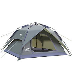DesertFox® 3-4 사람 텐트 더블 베이스 캠핑 텐트 원 룸 자동 텐트 방수 비 방지 용 캠핑 2000-3000 mm 옥스포드-180*210*118 CM