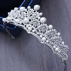 סגסוגת ריינסטון חיקוי פנינה headpiece- חתונה אירוע מיוחד חוצות tiaras סיכת שיער 1 חתיכה