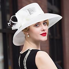 Penas Tule Linho Capacete-Casamento Ocasião Especial Casual Fascinador Chapéus 1 Peça
