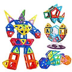 Byggeklosser Pedagogisk leke magnetiske blokker som Gave Byggeklosser Spill og puslespill Sirkelformet Firkantet Trekant Polykarbonat2