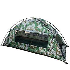 """1 אדם אוהל יחיד קמפינג אוהל אוהל מתקפל עמיד למים נייד 2000-3000 מ""""מ ל צעידה קמפינג CM חדר אחד אוקספורד סיבי זכוכית"""