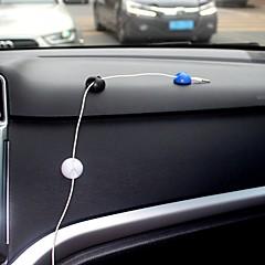 Ziqiao 10pcs Multifunktionsklebstoffautoaufladeeinheitslinie Klammerklemmplatte Kopfhörer / usb-Seilzugclip Innenzusätze (2.8 * 1.5cm)