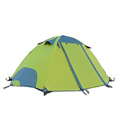 DesertFox® 2 사람 텐트 더블 베이스 캠핑 텐트 원 룸 접이식 텐트 방수 비 방지 용 캠핑 2000-3000 mm 옥스포드 CM