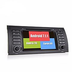 bonroadアンドロイド7.1.1クアッドコア1024 600車のビデオdvdプレーヤーe39 e53ラジオrds gpsナビゲーションブルートゥース画面のWiFi
