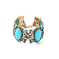 Women's Chain Bracelet Jewelry Friendship Luxury Alloy Oval Blue Jewelry For Party Special Occasion Anniversary 1pc