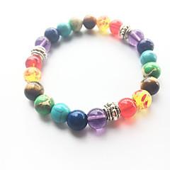 Fashion Natural Rainbow Colorful Agate Stone Beads Bracelet