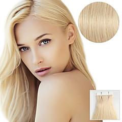 20pcs bandă în extensii de păr # 613 plajă blondă 40g 16inch 20inch 100% păr uman pentru femei