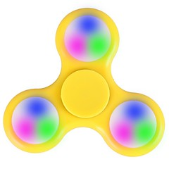 Fidget Spinner Hand Spinner Toys Tri-Spinner LED Spinner Plastic EDCLED light Stress and Anxiety Relief Office Desk Toys Relieves ADD,