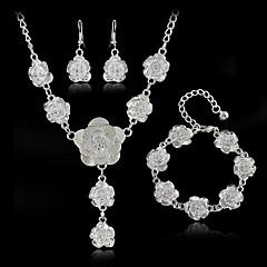 Dames Choker kettingen Legering Modieus Euramerican Zilver Sieraden VoorBruiloft Feest Speciale gelegenheden Verjaardag Verloving