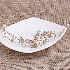 Perle Strass Casque-Mariage Serre-tête 1 Pièce