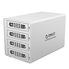 Orico-3549rus3 3,5 tommers høyhastighets usb3.0 fire disk harddiskskap raid sølv