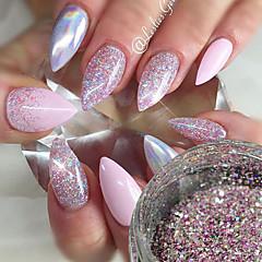 0.2g/bottle Fashion Romantic Design Gorgeous Galaxy Starry Effect Nail Art DIY Shining Platinum Glitter Power Sweet Style Sparkling Decoration BG04