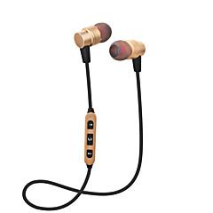 Cwxuan® magnetisch bluetooth draadloos sportmetaal in-oort oortelefoon / zelfontspanner