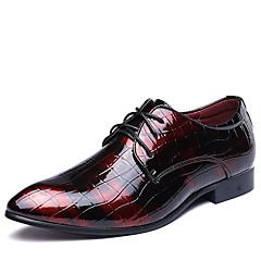 גברים מגפיים נעלי בולוק נעליים פורמלית עור אביב קיץ סתיו חורף חתונה משרד ועבודה מסיבה וערב הליכה מגפיים אופנתיים מפרק מפוצל עקב שטוחשחור