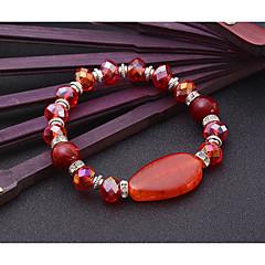Dame Strand Armbånd Natur Venskab Mode Movie smykker luksus smykker Krystal Agat Legering Geometrisk form Smykker ForBryllup Fest Speciel