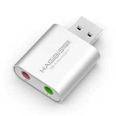 Hagibis usb externe Soundkarte Notebook-Desktop Computer unabhängige externe Headset-Konverter professionelle kostenlose Laufwerk