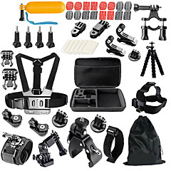 キット 汎用アクセサリ 屋外 耐衝撃 多機能 ために すべてのアクションカメラ フリーサイズ SJCAM SJ4000 ThiEYE I60 MEEE GOU MINI ユニバーサル 日常使用 スノースポーツ モーターバイク