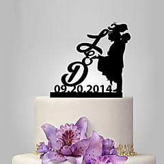 Decorações de Bolo Casal Clássico Casamento Tema Clássico Pessoas Romance Casamento Bolsa Poly