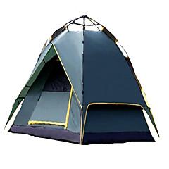 3-4人 テント ダブル 自動テント 1つのルーム キャンプテント 2000-3000 mm 炭素繊維 テリレン 通気性 防塵 折り畳み式-キャンピング&ハイキング-