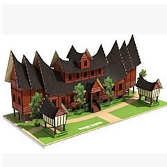 Puzzle 3D puzzle Stavební bloky DIY hračky Obdélníkový