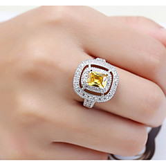 Dámské Typ kamene Široké prsteny Prsten Kubický zirkon imitace drahokamuZákladní design Jedinečný design Bižuterie Geometrický přátelství