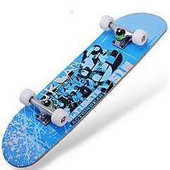 Esdoorn Dames Heren compleet Skateboards Standard Skateboards Patroon 31 Inch Lichtgewicht 608ZZ-Zwart Rood Blauw
