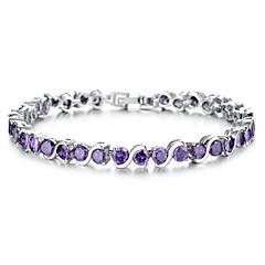 Femme Chaînes & Bracelets Zircon cubique Bohême Mode Plaqué or Forme de Cercle Bijoux Pour Soirée