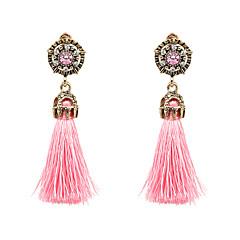 Mulheres Brincos Compridos Moda Estilo Boêmio bijuterias Liga Forma Redonda Jóias Para Festa