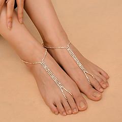 Dames Enkelring /Armbanden Koper Strass Modieus Kostuum juwelen Alfabetvorm Sieraden Voor Dagelijks Causaal Outdoorkleding Club