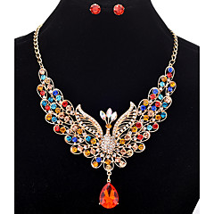 Stud Earrings Pendant Necklaces Chain Necklaces Women's  Rhinestone Phoenix   Euramerican Luxury Party Congratulations Gift Jewelry Movie