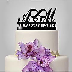 Decorações de Bolo Engraçado e Relutante Monograma Casamento Tema Clássico Casamento Bolsa Poly