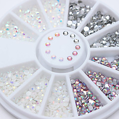 3D Acrylic Nail Art Flatback Rhinestone Jelly Resin Gems DIY Decoration Tips