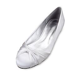 Feminino Sapatos De Casamento Conforto Bailarina Cetim Primavera Verão Casamento Social Festas & NoiteFlor de Cetim Cadarço de Borracha