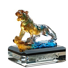 Diy ornamentos automotivos pingente de carro de perfume de tigre&Ornamentos de vidro