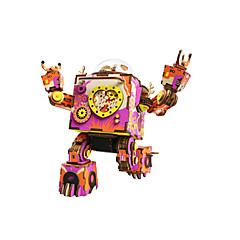 puzzle-uri Kit Lucru Manual Puzzle Puzzle Lemn Blocuri de pereti DIY Jucarii Fonograf Robot Desen animat Compus