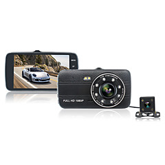 4.0 inch IPS Screen Car DVR Recorder 1080P Full HD Dash Cam Dual Lens Car Black Box Night Vision Auto Camera G-sensor Tachograph