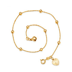 Femme Bracelet de cheville/Bracelet Plaqué or Ajustable Simple Style Forme de Cercle Forme Ronde Bijoux Pour Sortie Plage