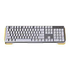 teclado mecânico jamesdonkey 619 teclado 104 teclas para retroiluminação led de eixo preto