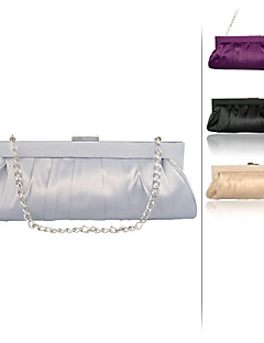 Women Silk Event/Party Evening Bag Purple / Gold / Silver / Black