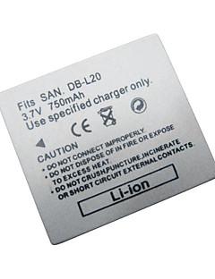 udskiftning Digitalkamera Batteri dbl20 Sanyo digital anyo dmx-cg9/vpc-ca8/dsc-j4 (09.370.271)