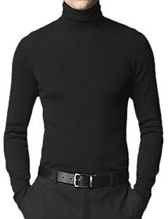 남자의 맞춤 스타일의 긴 소매 터틀넥 캐시미어 스웨터