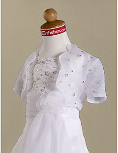 Short Sleeves Organza Flower Girl Jacket/ Wedding Wrap (70272)
