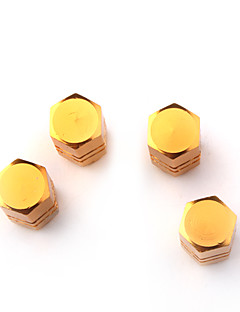 고급 타이어 밸브 캡 / 자동차 황금 유래 (팩 당 4 개)