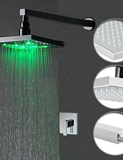 cor chuveiro torneira mudança levou com 8 polegadas chuveiro